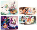 Animation Art:Production Drawing, Walt Disney's Treasury: 21 Best-Loved Stories Peter Pan Pages 60, 62 and 63 Illustrations by Al Dempster Original Art ... (Total: 6 Items)