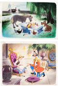 Animation Art:Production Drawing, Walt Disney's Treasury: 21 Best-Loved Stories Cinderella Pages 45 and 48 Illustrations by Campbell Grant Original Art ... (Total: 4 Items)