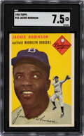 Baseball Cards:Singles (1950-1959), 1954 Topps Jackie Robinson #10 SGC NM+ 7.5....