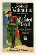 """Movie Posters:Drama, A Sainted Devil (Paramount, 1924). Fine+ on Linen. One Sheet (27"""" X 41"""").. ..."""