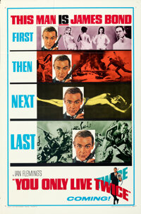 "You Only Live Twice (United Artists, 1967). Flat Folded, Fine/Very Fine. One Sheet (27"" X 41"") Teaser Style A..."