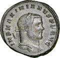 Ancients:Roman Imperial, Ancients: Maximian (AD 286-310). BI nummus (26mm, 11.18gm, 5h). NGC Choice AU 5/5 - 5/5....