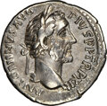 Ancients:Roman Imperial, Ancients: Antoninus Pius (AD 138-161). AR denarius (19mm, 5h). NGC Choice VF. ...