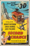 """Movie Posters:Thriller, Second Chance (RKO, 1953). Folded, Very Fine-. One Sheet (27"""" X 41"""") 3-D Style. Thriller.. ..."""