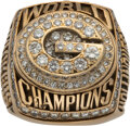 Football Collectibles:Others, 1996 Green Bay Packers Super Bowl XXXI Championship Ring Presented to Linebacker Lamont Hollinquest....