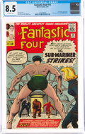 Silver Age (1956-1969):Superhero, Fantastic Four #14 (Marvel, 1963) CGC VF+ 8.5 Off-white pages....