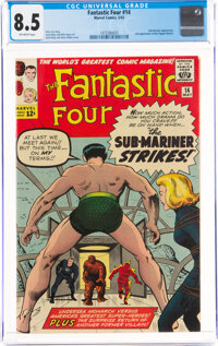 Fantastic Four #14 (Marvel, 1963) CGC VF+ 8.5 Off-white pages