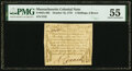 Colonial Notes:Massachusetts, Massachusetts October 16, 1778 4 Shillings 6 Pence Fr. MA-265 PMG About Uncirculated 55.. ...