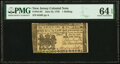 Colonial Notes:New Jersey, New Jersey June 22, 1756 1 Shilling Fr. NJ-92 PMG Choice Uncirculated 64 EPQ.. ...