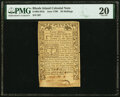 Colonial Notes:Rhode Island, Rhode Island June 1780 20 Shillings Fr. RI-281b PMG Very Fine 20.. ...