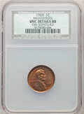 1969 1C Lincoln Cent -- Broadstruck, Obverse Scratched -- NCS. Unc Details Red and Brown. From The Don Bon