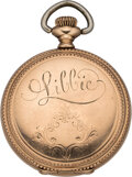 """Military & Patriotic:Indian Wars, """"Libbie"""" Custer: Engraved Watch Presented to Custer's Beloved Widow by the Veterans of the 7th Cavalry. ..."""