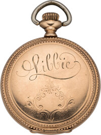 """Libbie"" Custer: Engraved Watch Presented to Custer's Beloved Widow by the Veterans of the 7th Cavalry"