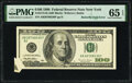 Error Notes:Foldovers, Butterfly Fold Error Fr. 2175-B $100 1996 Federal Reserve Note. PMG Gem Uncirculated 65 EPQ.. ...