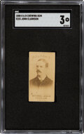 Baseball Cards:Singles (Pre-1930), 1888 E223 G&B Chewing Gum John Clarkson SGC VG 3 - Only Two Graded Examples....