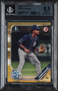 Baseball Cards:Singles (1970-Now), 2019 Bowman Draft CJ Abrams (Gold) #BD-85 BGS NM-MT+ 8.5 - Serial Numbered 17/50....