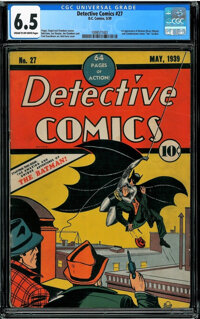 Detective Comics #27 (DC, 1939) CGC FN+ 6.5 Cream to off-white pages
