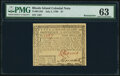 Colonial Notes:Rhode Island, Rhode Island July 2, 1780 $1 Remainder PMG Choice Uncirculated 63.. ...
