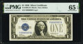 Fancy Serial Number 08999997 Fr. 1600 $1 1928 Silver Certificate. PMG Gem Uncirculated 65 EPQ