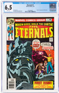 Bronze Age (1970-1979):Superhero, The Eternals #1 (Marvel, 1976) CGC FN+ 6.5 White pages.