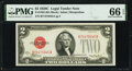 Fr. 1504 $2 1928C Legal Tender Note. PMG Gem Uncirculated 66 EPQ