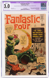 Fantastic Four #1 (Marvel, 1961) CGC Apparent GD/VG 3.0 Slight (C-1) Off-white to white pages