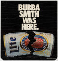 """Football Collectibles:Others, 1983 """"Bubba Smith Was Here"""" Miller Lite Advertising Sign From New York City Subway Car...."""