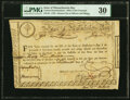 Colonial Notes:Massachusetts, Massachusetts 6% Treasury Certificate July 20, 1779 Anderson MA-19 PMG Very Fine 30, pen cancelled.. ...
