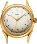 Timepieces:Wristwatch, ARSA, 18k Gold Vintage Automatic, Felsa 690 Bidynator Move...