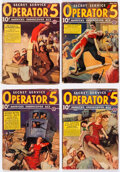 Pulps:Detective, Operator #5 Group of 6 (Popular, 1938) Condition: Average VG-.... (Total: 6 Items)