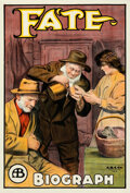 """Movie Posters:Drama, Fate (Biograph Studios, 1913). Fine/Very Fine on Linen. One Sheet (27.75"""" X 41"""").. ..."""