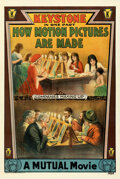 """Movie Posters:Short Subject, How Motion Pictures Are Made (Keystone, 1914). Fine/Very Fine on Linen. One Sheet (28"""" X 42"""").. ..."""
