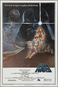 "Movie Posters:Science Fiction, Star Wars (20th Century Fox, 1977). Folded, Very Fine. Third Printing One Sheet (27"" X 41"") Style A, Tom Jung Artwork. Scien..."