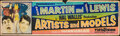 """Movie Posters:Comedy, Artists and Models (Paramount, 1955). Rolled, Very Good+. Silk Screen Banner (24"""" X 82""""). Comedy.. ..."""