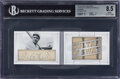 """Baseball Cards:Singles (1970-Now), 2015 National Treasures """"Legends"""" Babe Ruth (Cut Booklet materials Nickname) #1 BGS NM-MT+ 8.5, Auto 9 - #'d 1/1! ..."""