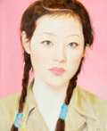 Paintings, Qi Zhilong (Chinese, b. 1962). Female Student, 2009. Oil on canvas. 86-1/2 x 71 inches (219.7 x 180.3 cm). Signed and da...