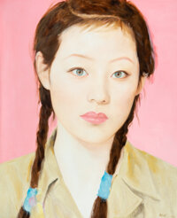 Qi Zhilong (Chinese, b. 1962) Female Student, 2009 Oil on canvas 86-1/2 x 71 inches (219.7 x 180