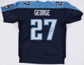 Autographs:Jerseys, Eddie George Signed Tennessee Titans Jersey - The Johnny Mack Collection....