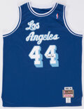 Autographs:Jerseys, Jerry West Signed Blue Los Angeles Lakers Jersey - The Johnny Mack Collection....