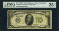Fr. 2003-D $10 1928C Federal Reserve Note. PMG Very Fine 25 Net