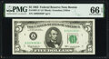 Small Size:Federal Reserve Notes, Fr. 1967-A* $5 1963 Federal Reserve Star Note. PMG Gem Uncirculated 66 EPQ.. ...
