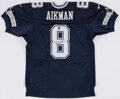 Autographs:Jerseys, Troy Aikman Signed Dallas Cowboys Jersey - The Johnny Mack Collection....