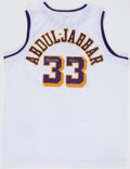 Autographs:Jerseys, Kareem Abdul-Jabbar Signed Los Angeles Lakers Jersey, The Johnny Mack Collection....