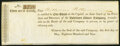 Obsoletes By State:Maryland, Baltimore, (MD)- Baltimore Water Company 1 Share Entitlement May 1, 1809 Extremely Fine-About Uncirculated.. ...