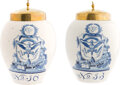 Political:Presidential Relics, [Franklin D. Roosevelt]: Rare Pair of Delft Jars Gifted by Secretary of the Treasury Henry Morgenthau.... (Total: 2 Items)
