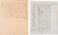 Pair of Slave Documents.... (Total: 2 Items)