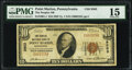 National Bank Notes:Pennsylvania, Point Marion, PA - $10 1929 Ty. 1 The Peoples National Bank Ch. # 9503 PMG Choice Fine 15.. ...