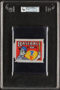 Baseball Cards:Unopened Packs/Display Boxes, 1961 Nu-Card Scoops Baseball Unopened Five-Cent Wax Pack GAI Mint 9....