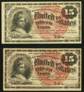 Fr. 1267 15¢ Fourth Issue (2) Very Fine; About New