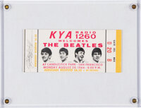 The Beatles Unused Candlestick Park Ticket, Their Final Concert (1966)